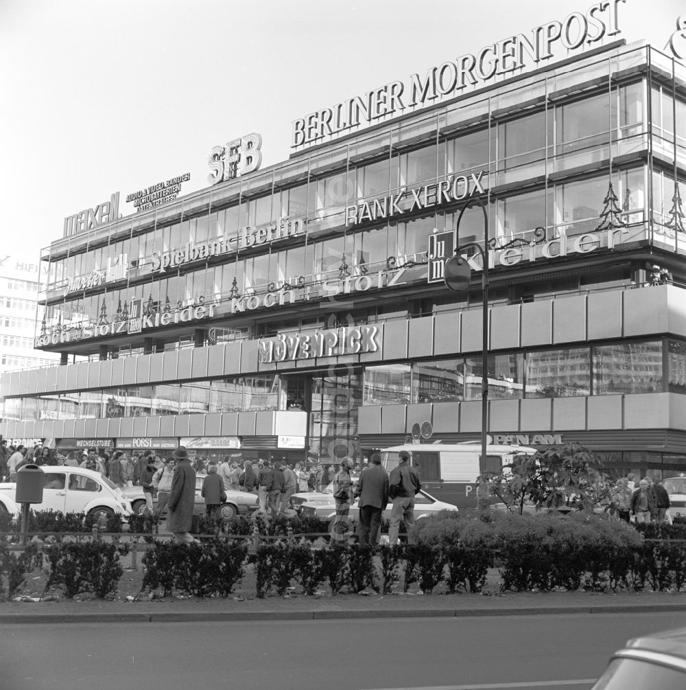 DDR-Fotoarchiv: Berlin - Charlottenburg - Europa-Center am Breitscheidplatz in Berlin - Charlottenburg
