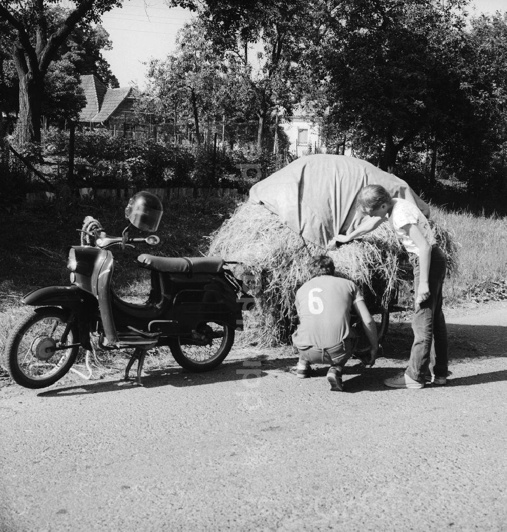 Historique : Motos des coopératives agricoles en RDA Ddr-fotos-vater-sohn-motorrad-marke-simson-schwalbe-anhaenger-schwerin-mecklenburg-vorpommern-gebiet-ehemaligen-ddr-deutsche-demokratische-republik-65109