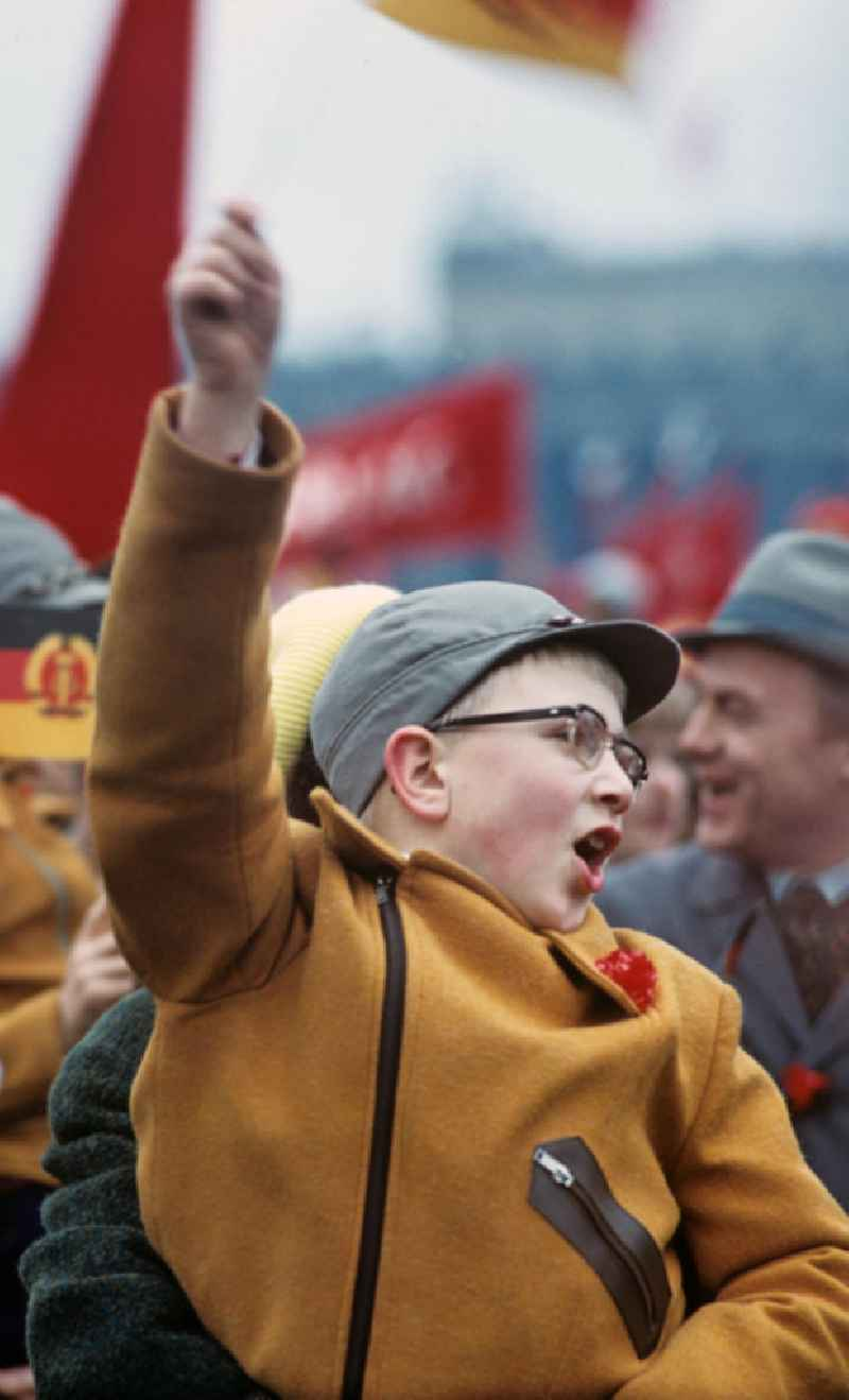 Kinder zur Mai-Demonstration 1970 Berlin