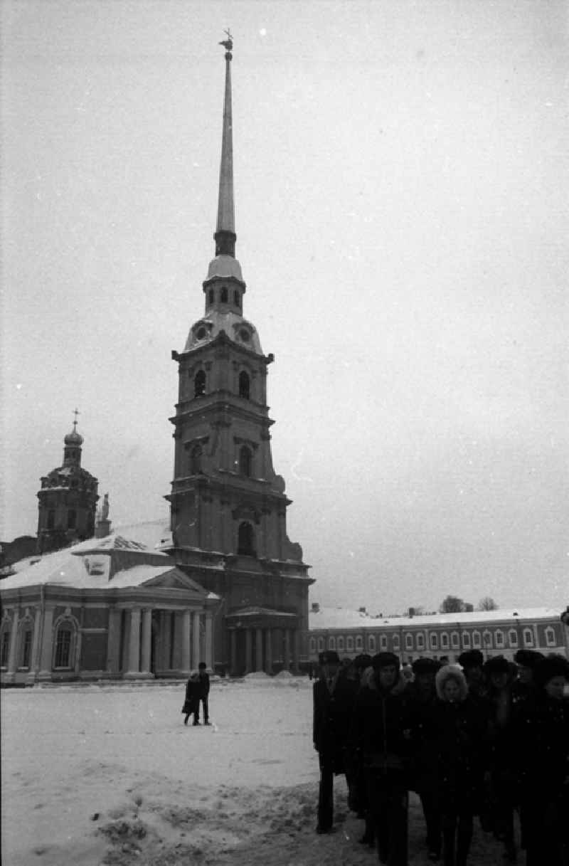 Peter-und-Paul-Kathedrale in Leningrad